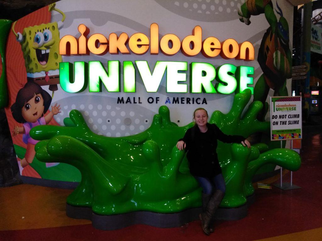 Teen girl at Nickelodeon Universe at Mall of America