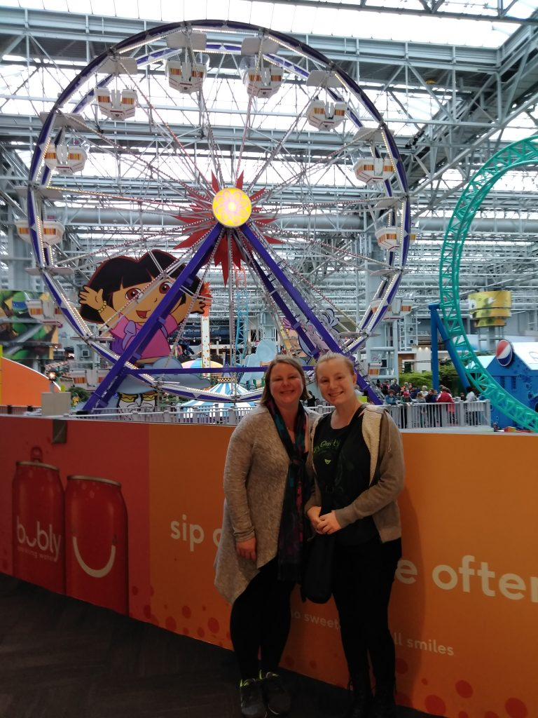 Teen girl and mom at Nickelodeon Universe at Mall of America