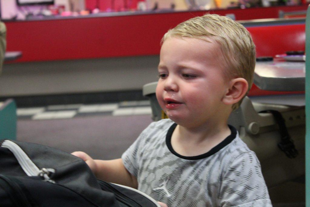 Toddler having tantraum