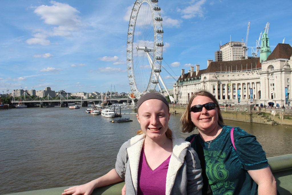 Mom and Daughter by London Eye