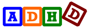 Letter blocks spelling out ADHD