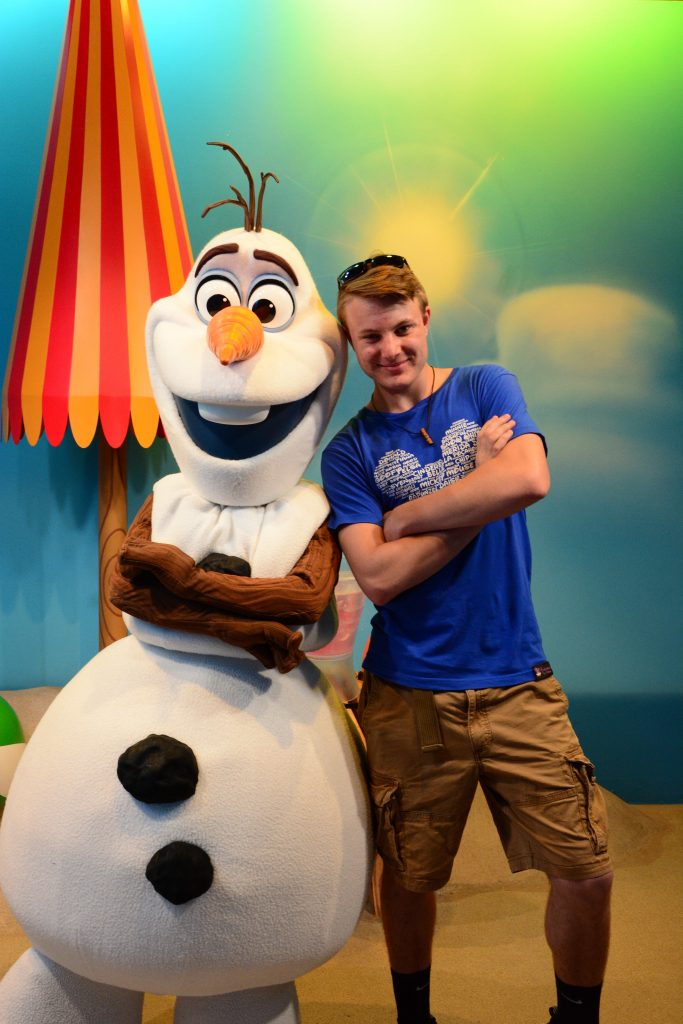 Teen boy with Olaf