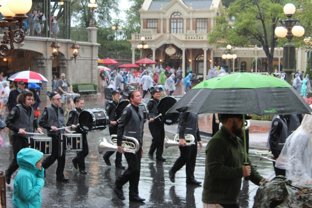 High School marching band playing in Walt Disney World