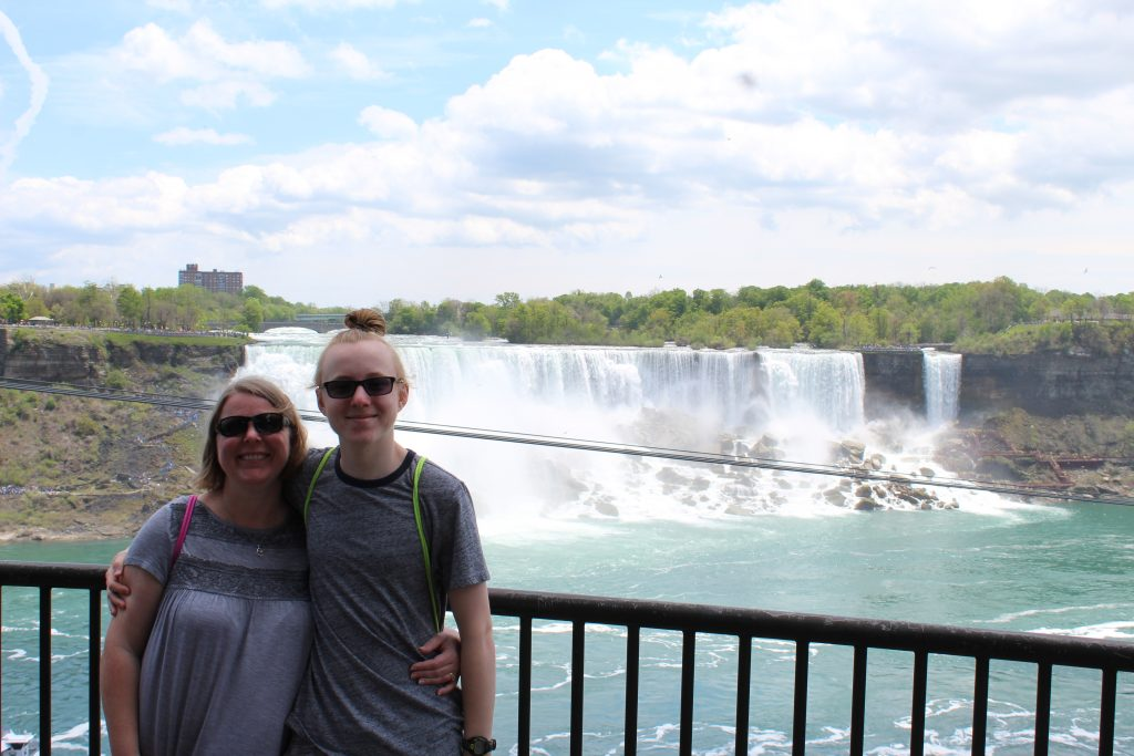 Mom and son at Niagara Falls, Canada