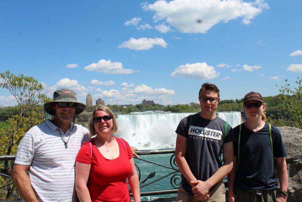 Family at Niagara Fall, Canada