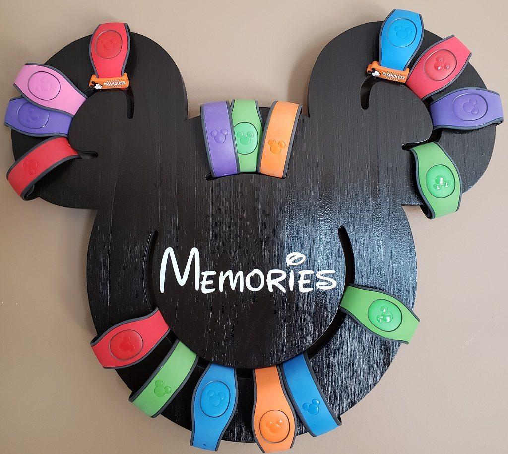 Memories Mickey head Magic Band holder