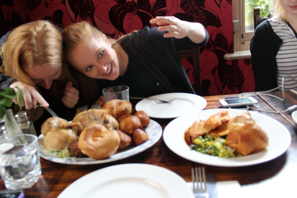 Sunday roast in London, England