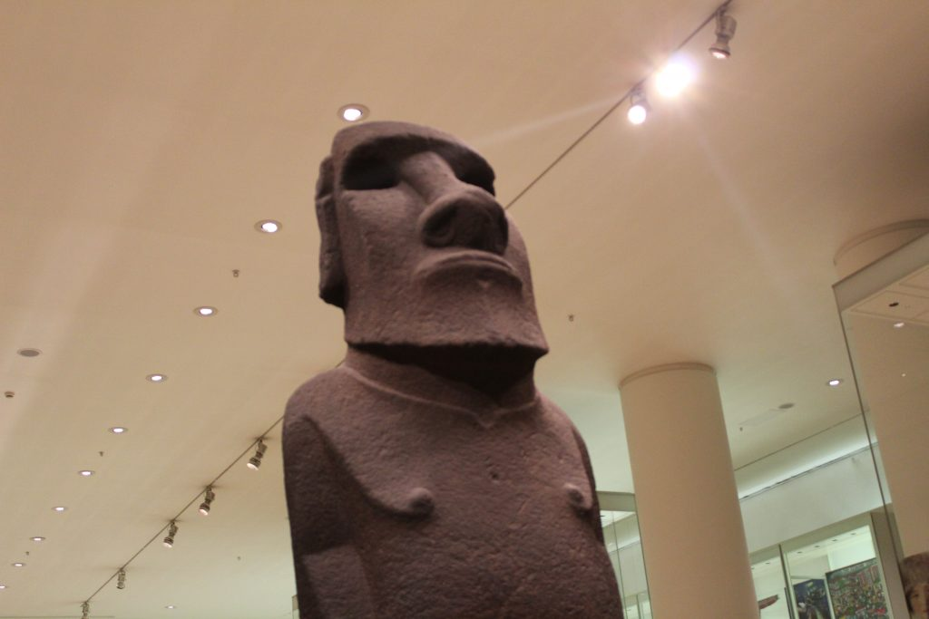Easter Island statue at the British Museum in London, England