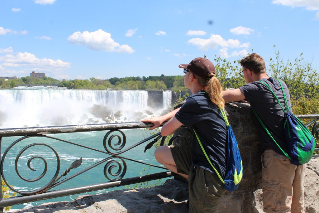 Teens at Niagara Falls, Canada 2019