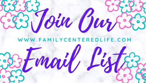 family centered life email list