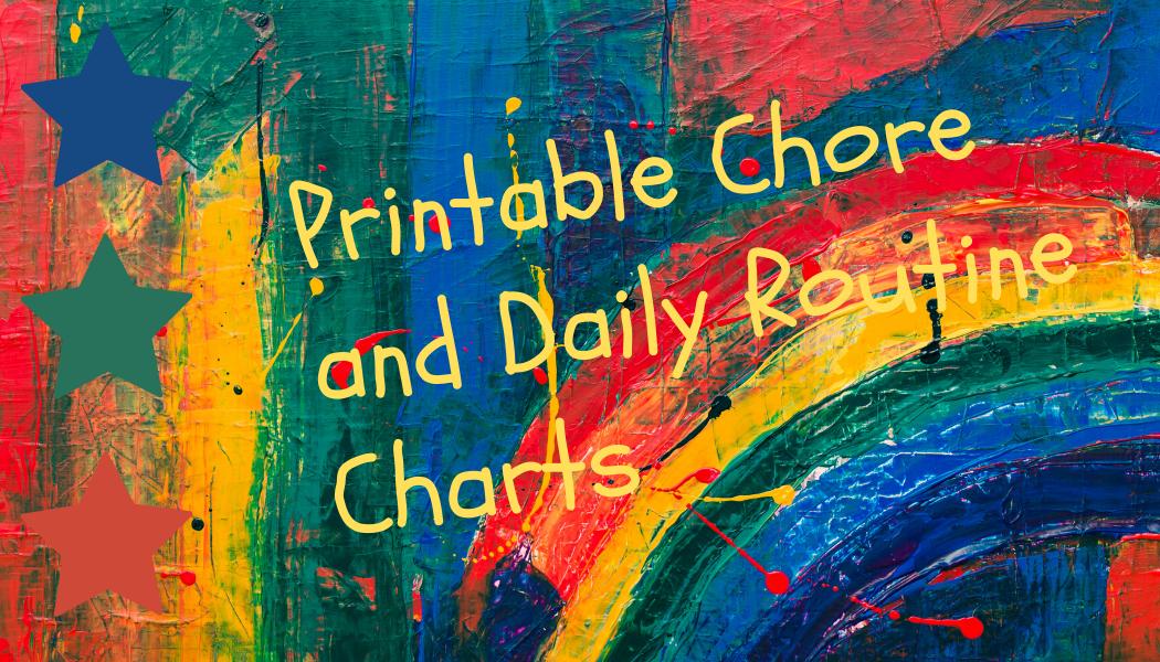 Printable Charts and Lists
