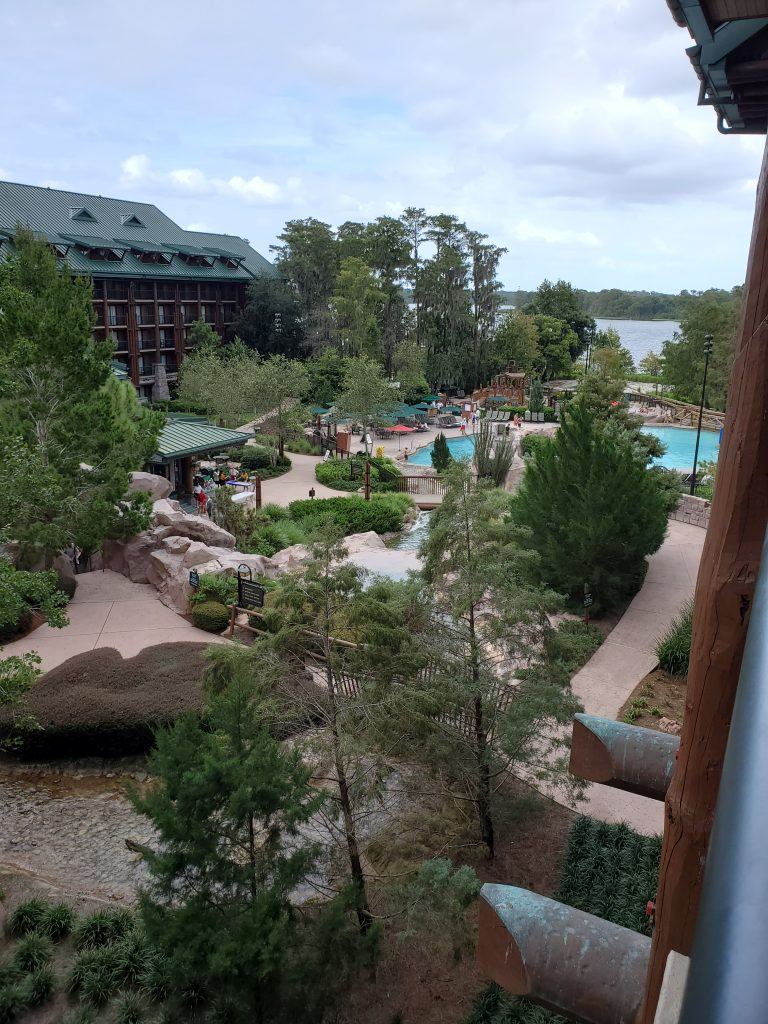 Disney Wilderness Lodge view from main building