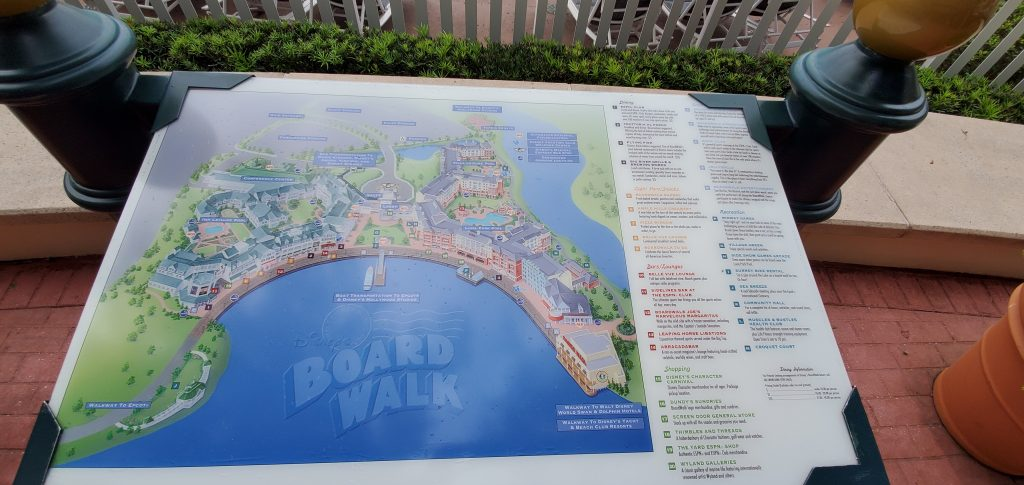map of Disney's Boardwalk