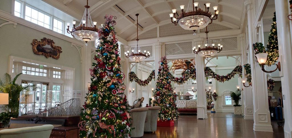 Disney hotels at Christmas time