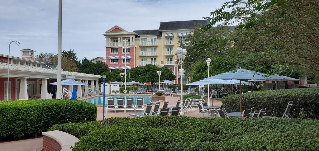 Quiet pool at Disney's Boardwalk Resort