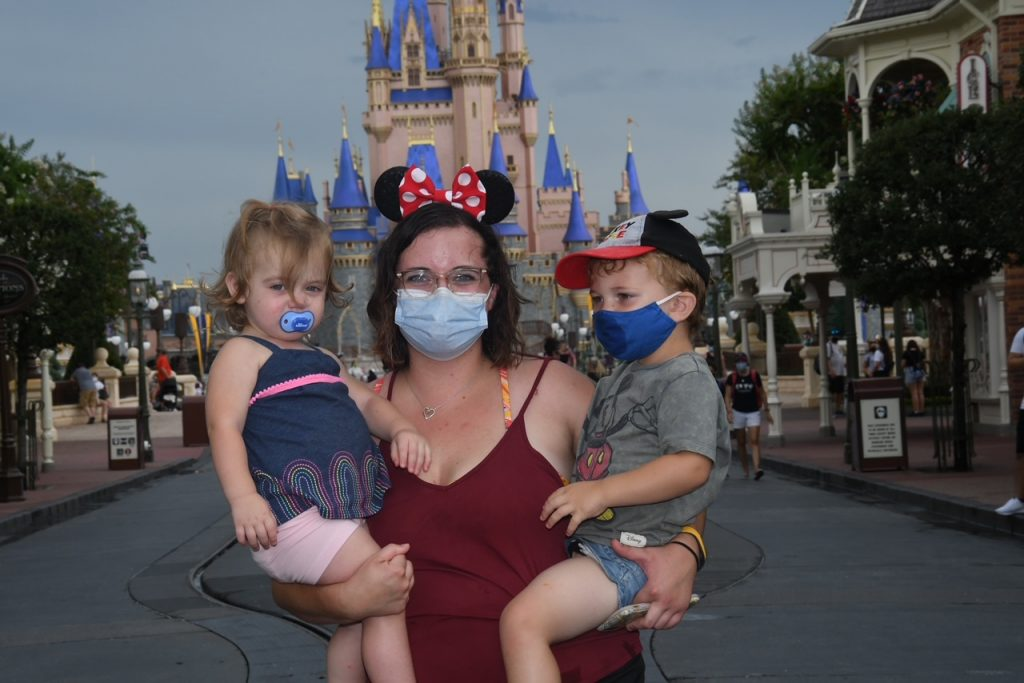 Family fun at the iconic Cinderella's castle!